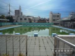 プールの改築工事