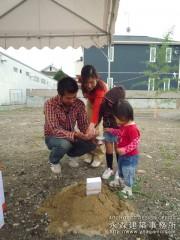 建築模型も地鎮祭に参加!2