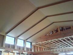 勾配天井を生かした照明デザイン