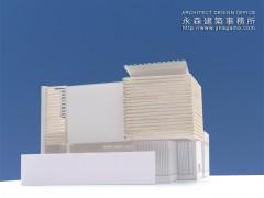 建築模型で光の入り方を検討1