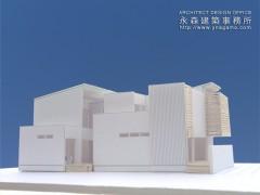 建築模型で光の入り方を検討2