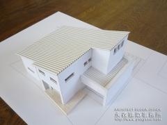 オープンデスク建築模型完成1