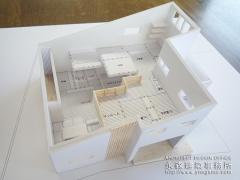オープンデスク建築模型完成2