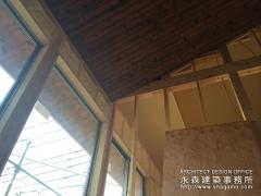 天井の仕上げは焼板