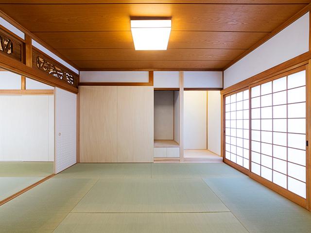 「い草」の香りが心地いい和室!