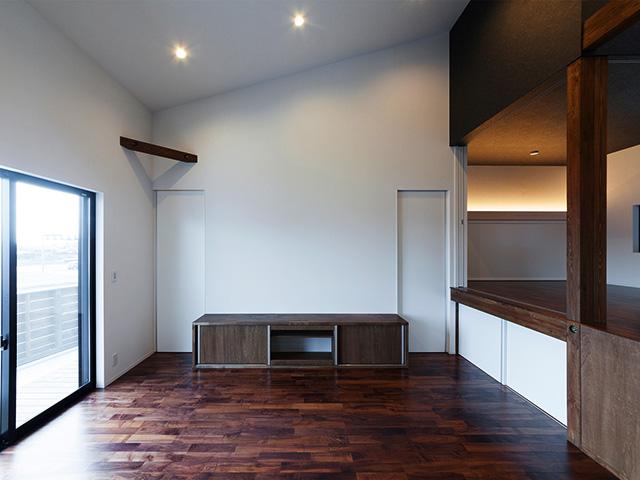 造り付け家具でデザインが統一!