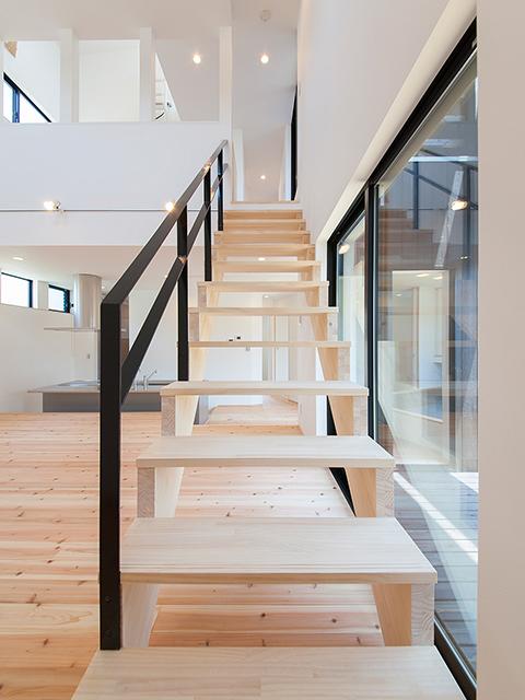 ささら桁階段!