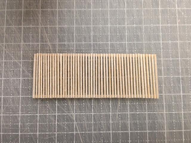建築模型〜ルーバー完成!
