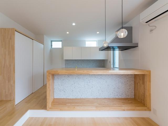 造作家具で囲まれたキッチン!
