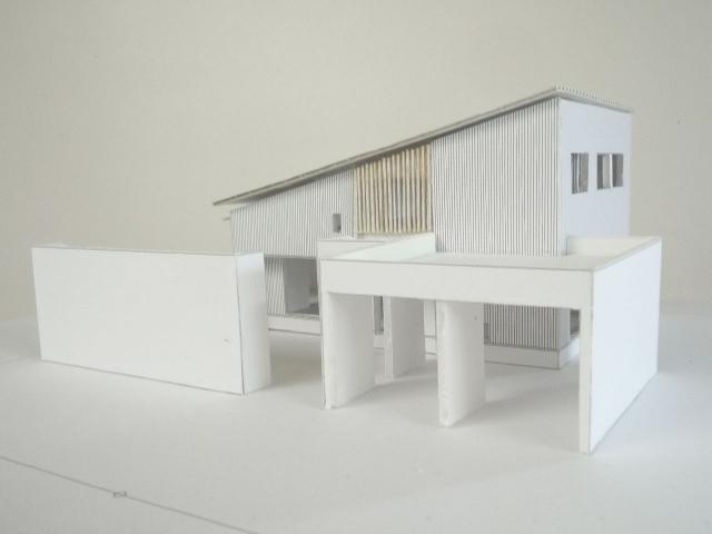 オープンデスク建築模型作製完成1