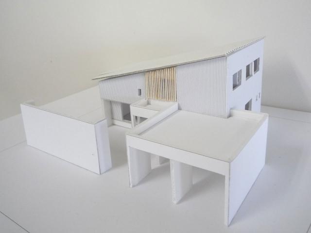 オープンデスク建築模型作製完成2