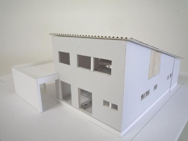 オープンデスク建築模型作製完成3