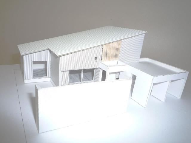 オープンデスク建築模型作製完成4
