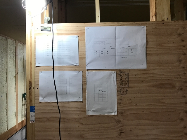 大工さんの造り付け家具図面 !