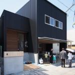 「敷地の高低差を利用したスキップフロアの家」オープンハウス1