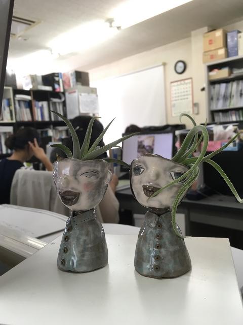 陶芸ができるホビールームで製作された陶器花瓶!