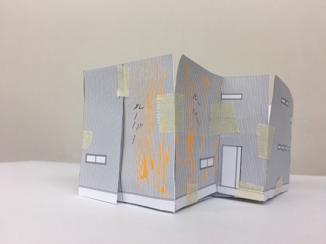 L型ルーバーのインパクトある住宅!1