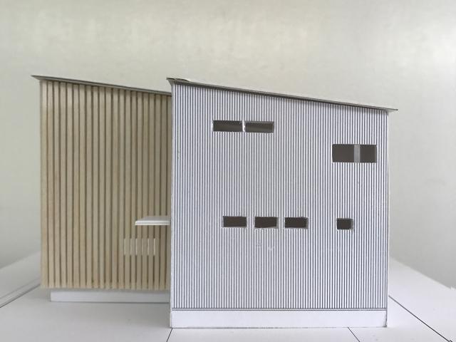 建築模型のルーバー完成2!
