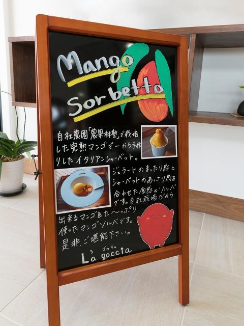 マンゴー販売施設「La goccia」の竣工写真(メニュー)7