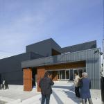 「アプローチゲートのあるL型プランの家」オープンハウス1