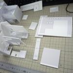 建築模型作製中!
