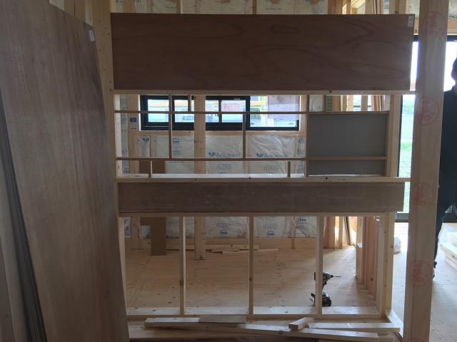 書斎と和室の間仕切り壁!1
