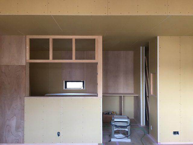 キッチン間仕切り造作家具!